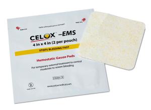 Hemostatic Gauze Pads - Celox EMS 4x4 inch pad