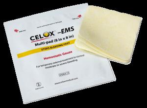 Hemostatic Gauze Pads Celox EMS 8x8 inch multi-pad