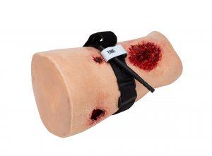 Celox Academy training thigh training kit using a tourniquet