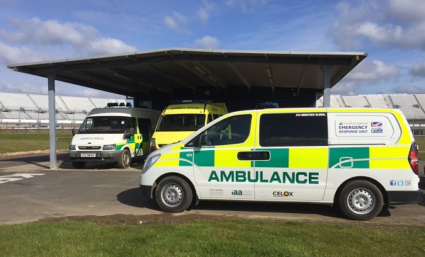 Meditech Global ambulance at Rockingham race court for haemorrhage control