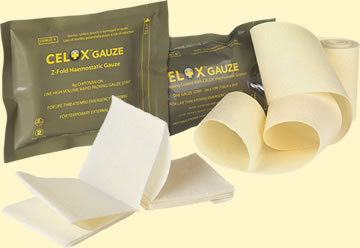Celox Hemostatic Gauze Packs